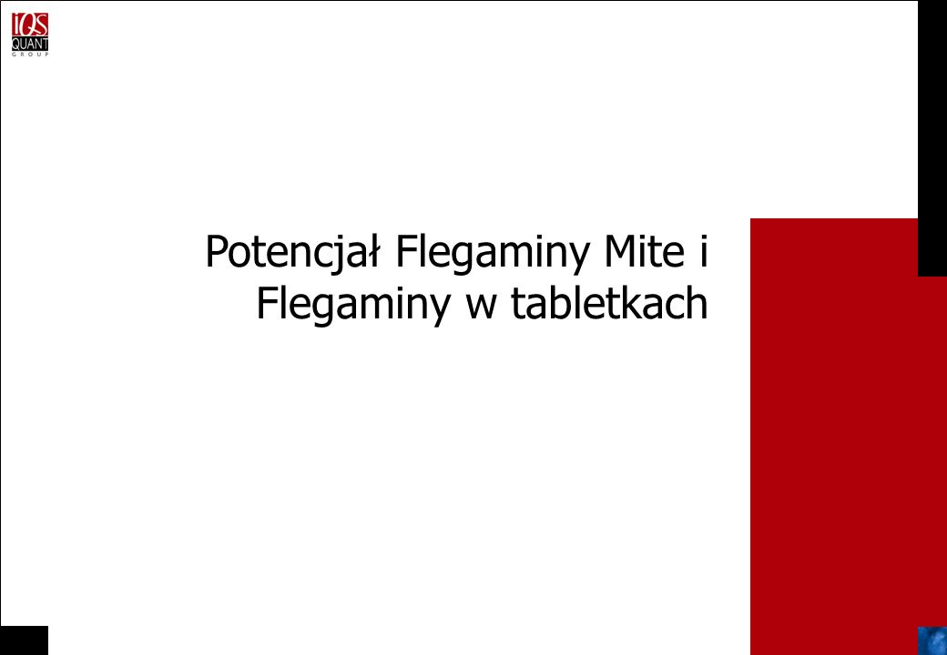 Potencjał Flegaminy Mite i Flegaminy w tabletkach