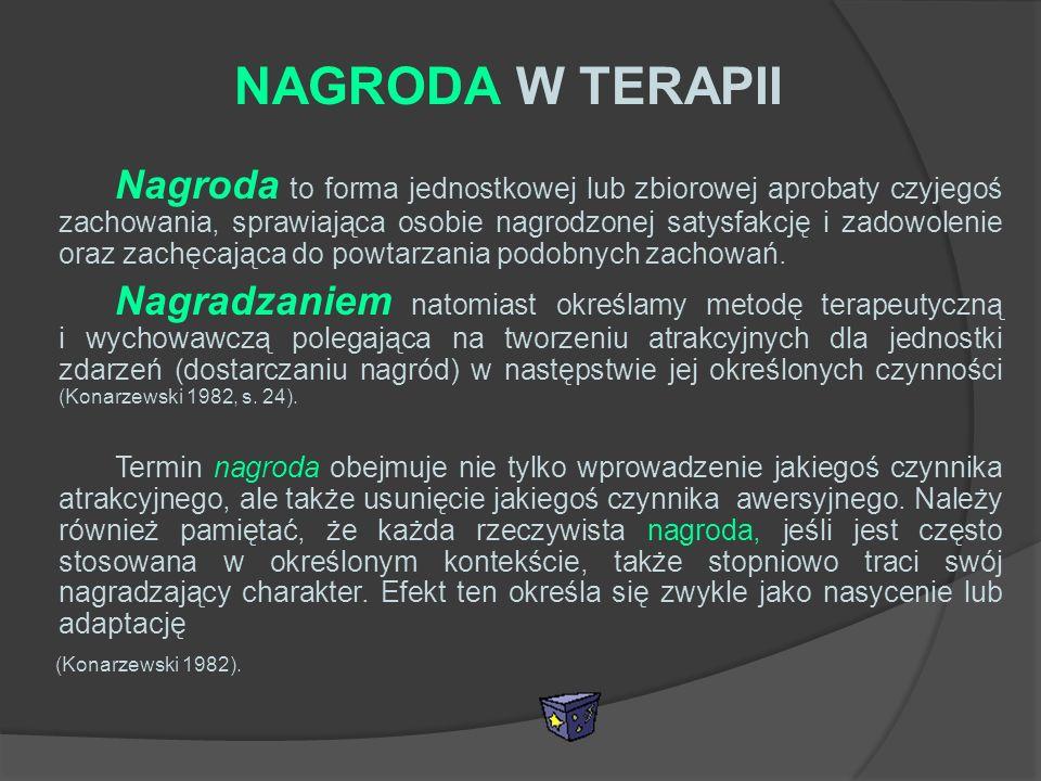 NAGRODA W TERAPII