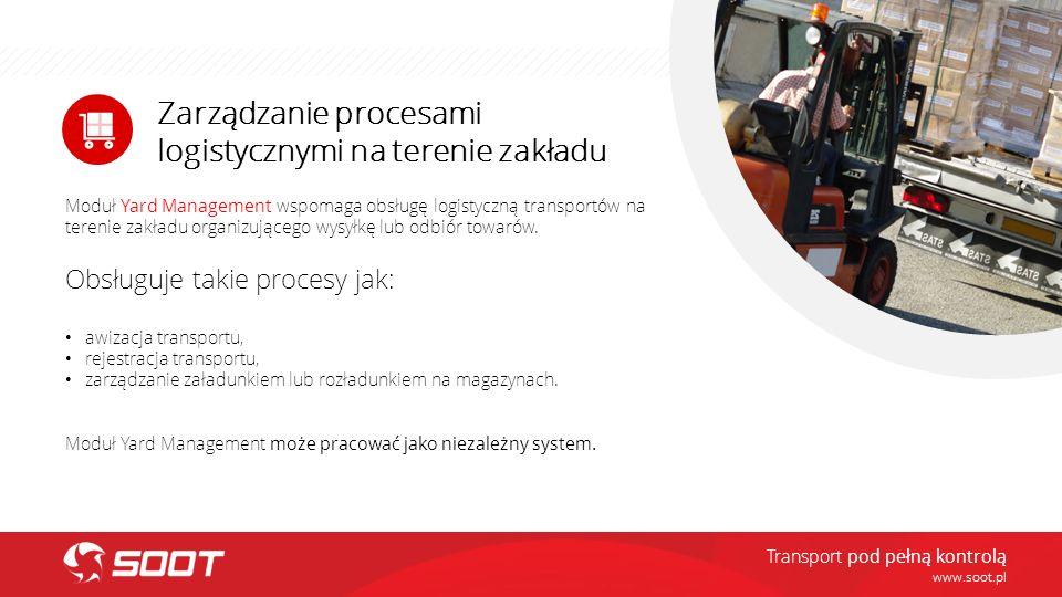 Zarządzanie procesami logistycznymi na terenie zakładu