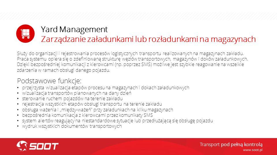 Zarządzanie załadunkami lub rozładunkami na magazynach