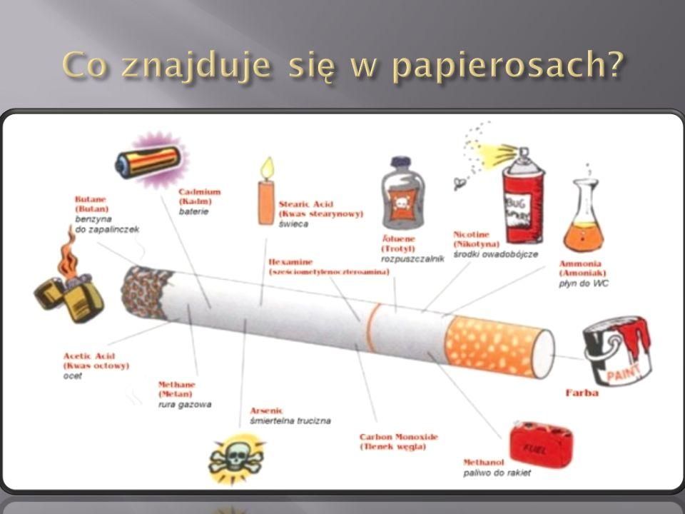 Co znajduje się w papierosach