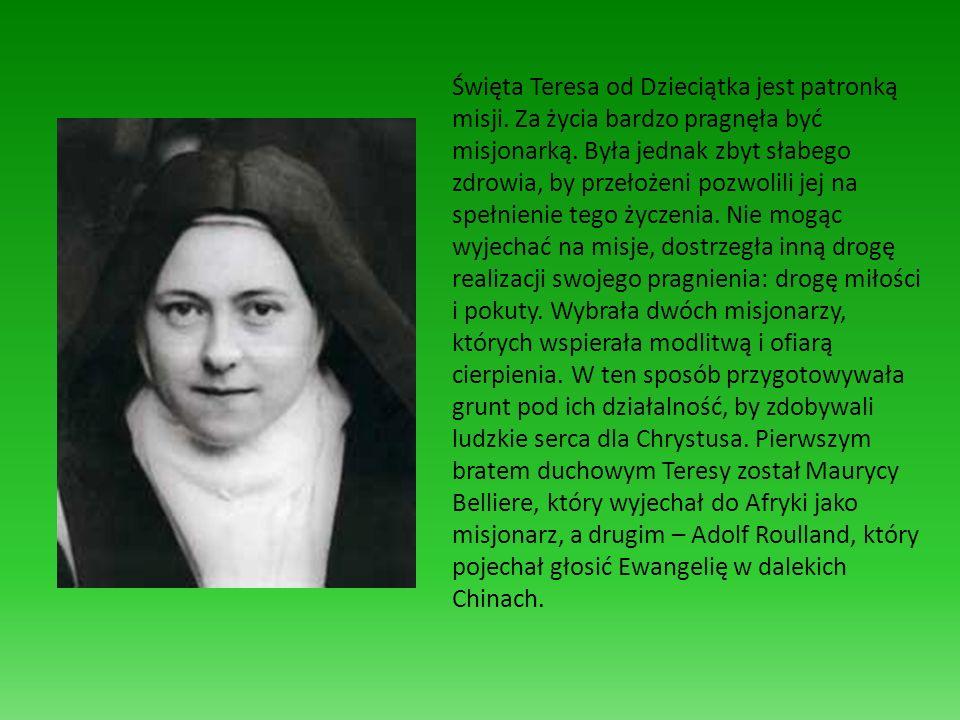 Święta Teresa od Dzieciątka jest patronką misji
