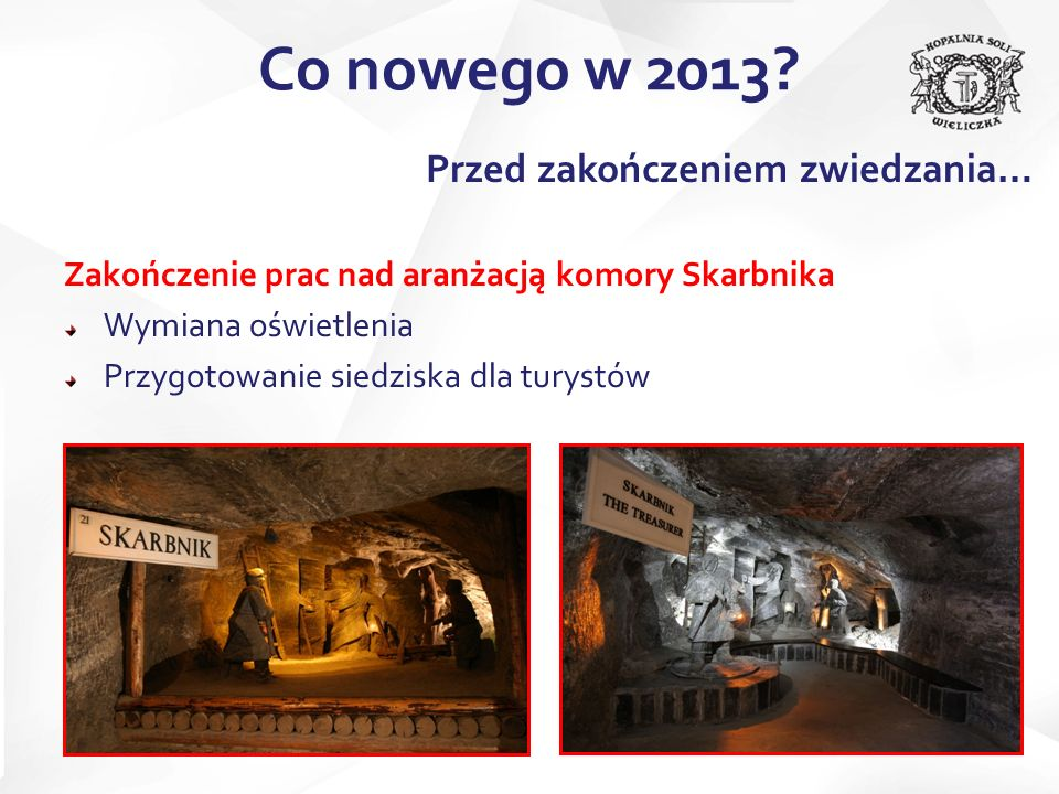 Co nowego w 2013 Przed zakończeniem zwiedzania…