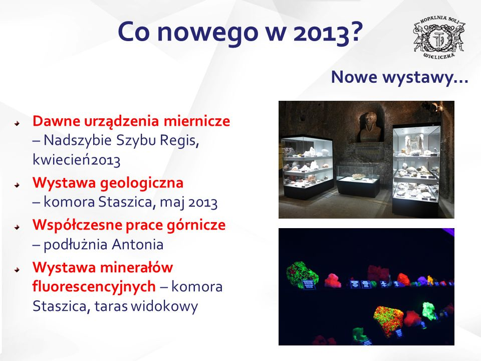 Co nowego w 2013 Nowe wystawy…