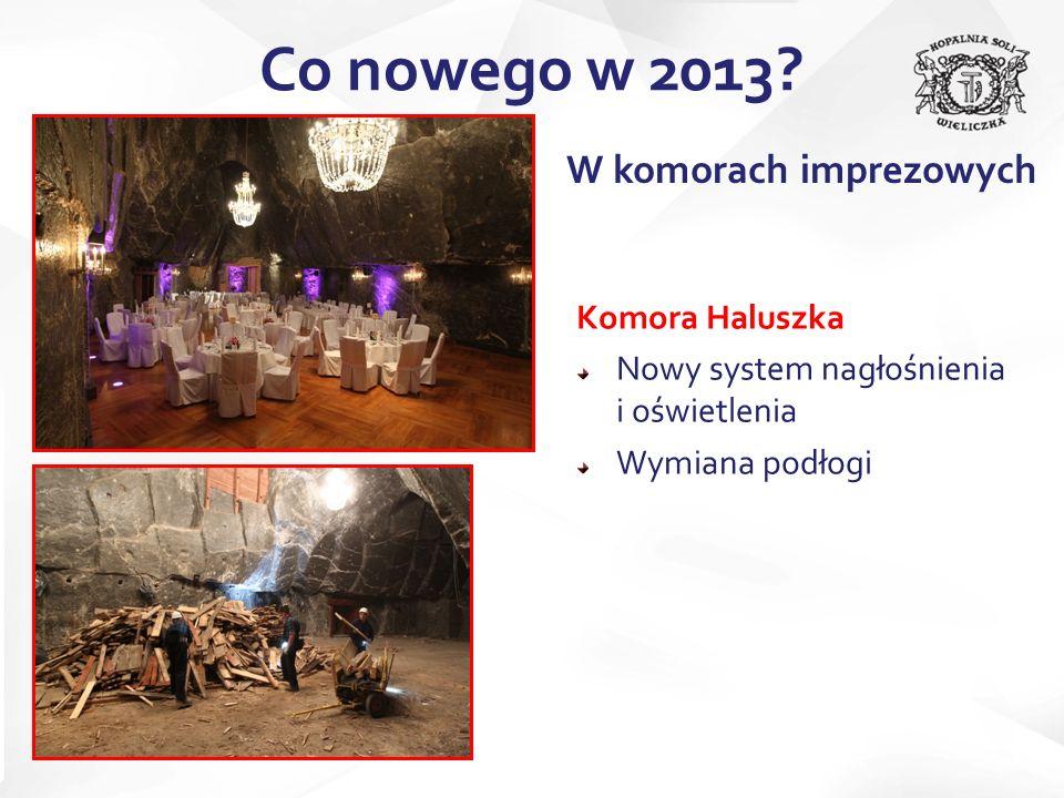 Co nowego w 2013 W komorach imprezowych Komora Haluszka