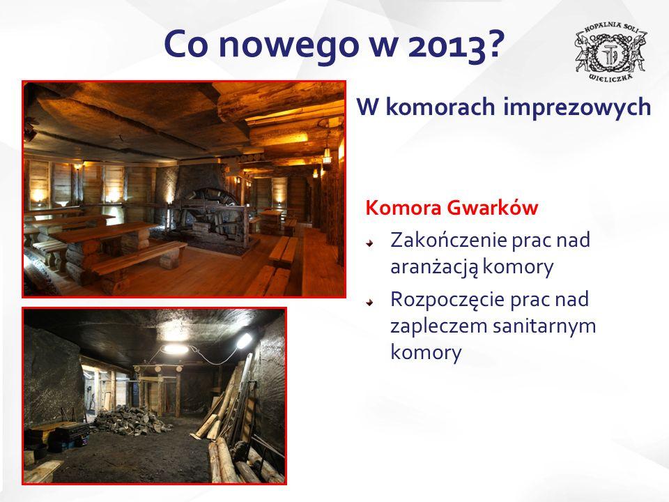 Co nowego w 2013 W komorach imprezowych Komora Gwarków