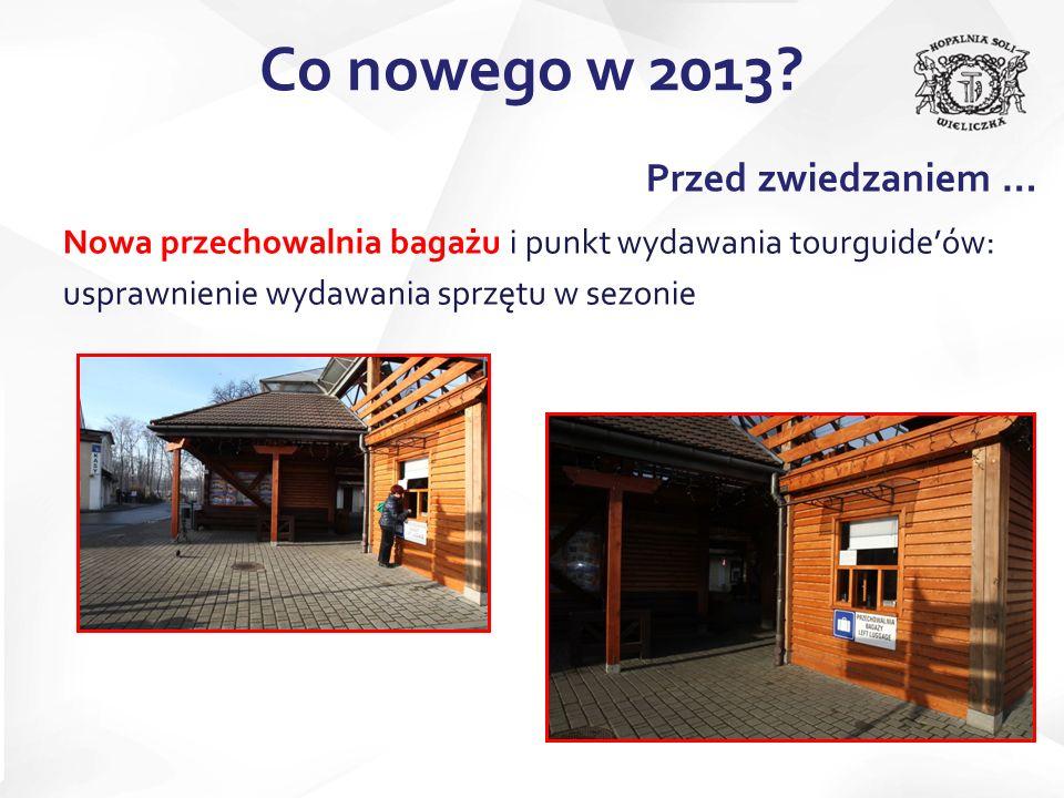 Co nowego w 2013 Przed zwiedzaniem …