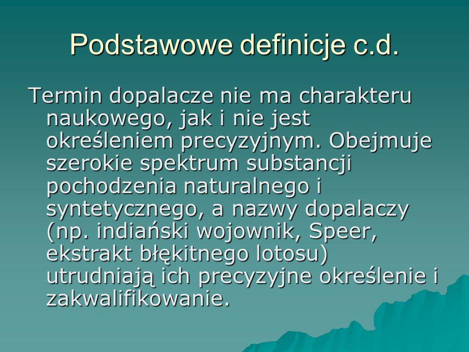 Podstawowe definicje c.d.