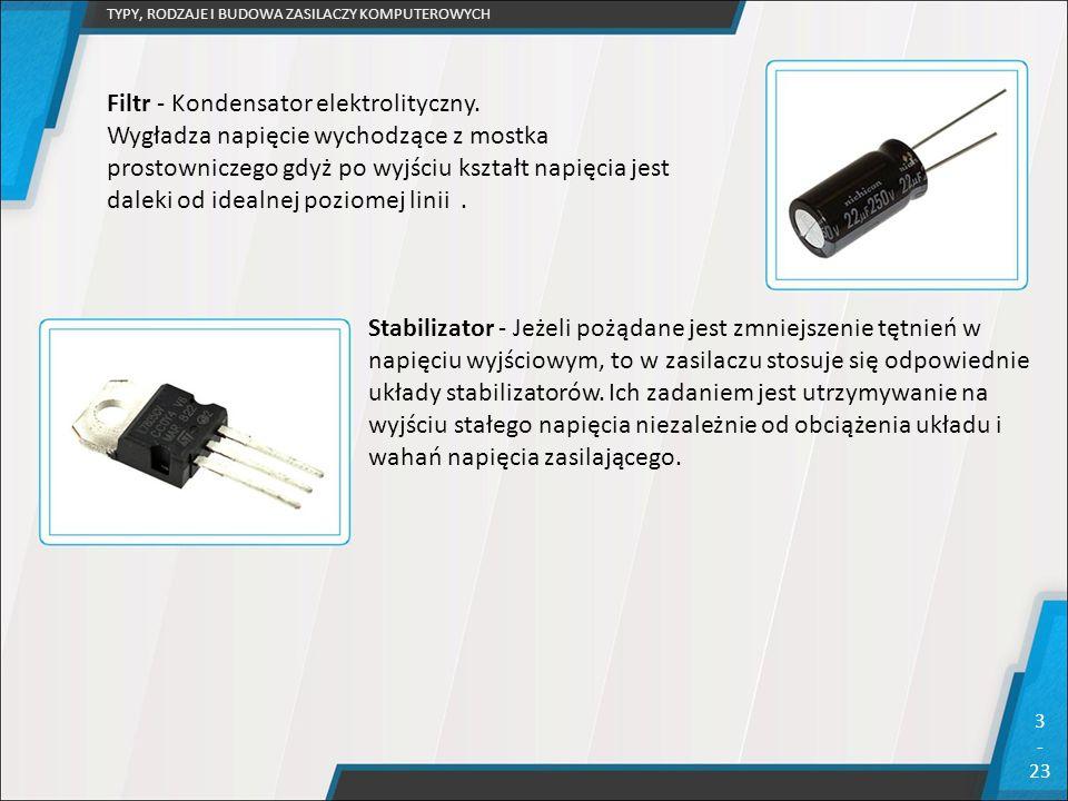 Filtr - Kondensator elektrolityczny.