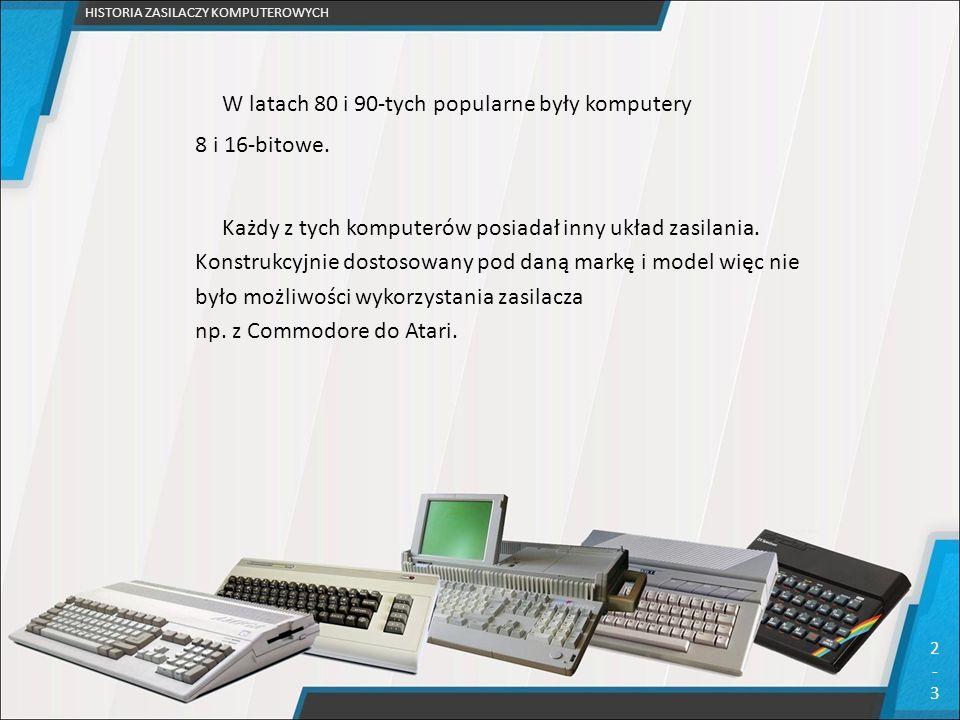 W latach 80 i 90-tych popularne były komputery 8 i 16-bitowe.