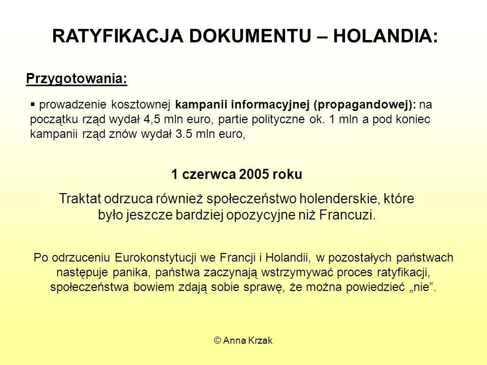 RATYFIKACJA DOKUMENTU – HOLANDIA: