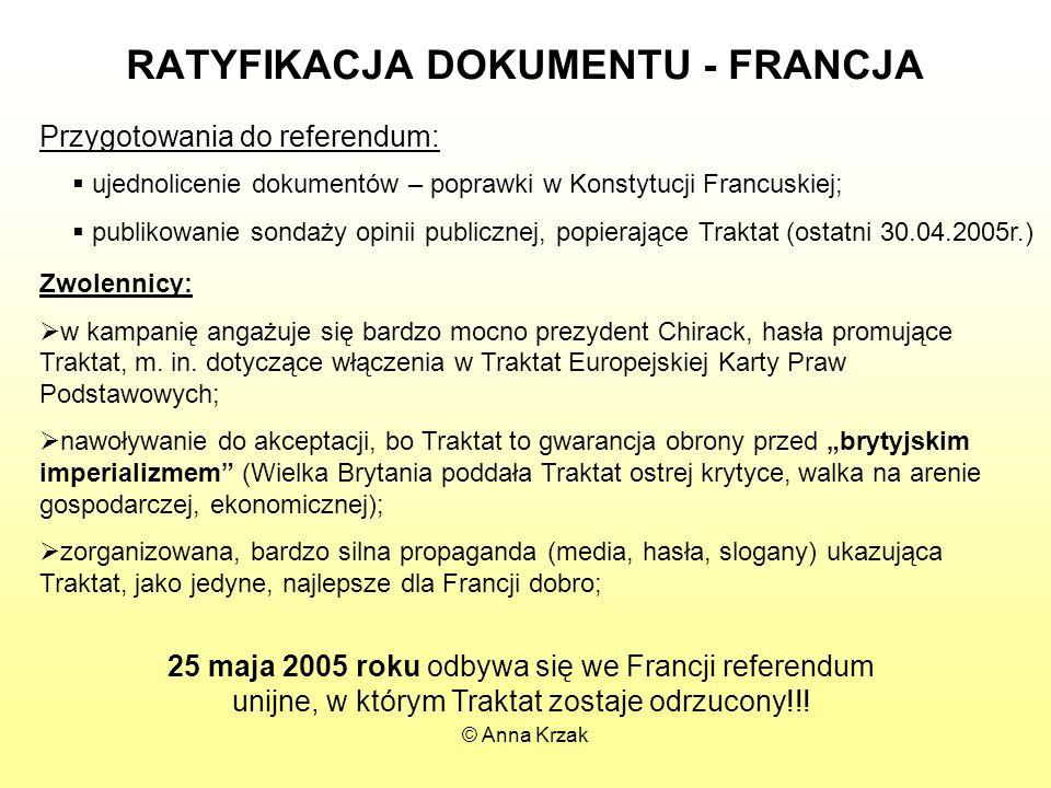RATYFIKACJA DOKUMENTU - FRANCJA