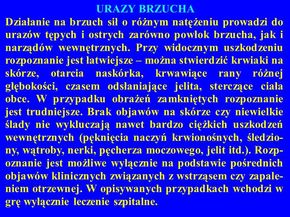 URAZY BRZUCHA