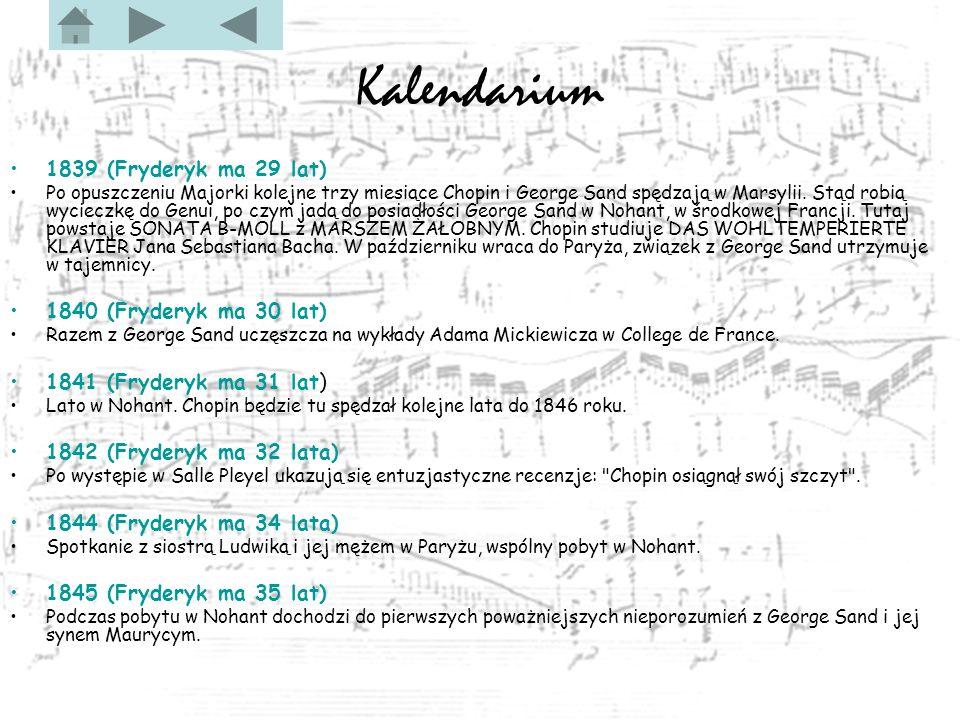 Kalendarium 1839 (Fryderyk ma 29 lat) 1840 (Fryderyk ma 30 lat)