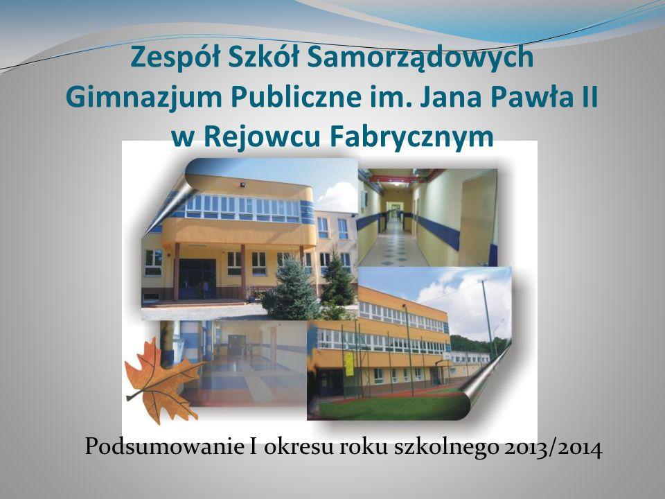 Podsumowanie I okresu roku szkolnego 2013/2014