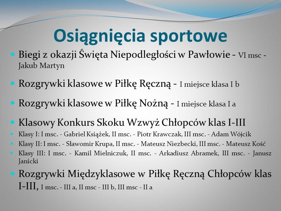 Osiągnięcia sportowe Biegi z okazji Święta Niepodległości w Pawłowie - VI msc - Jakub Martyn.