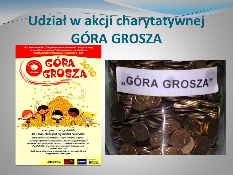 Udział w akcji charytatywnej GÓRA GROSZA