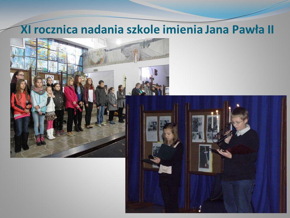 XI rocznica nadania szkole imienia Jana Pawła II