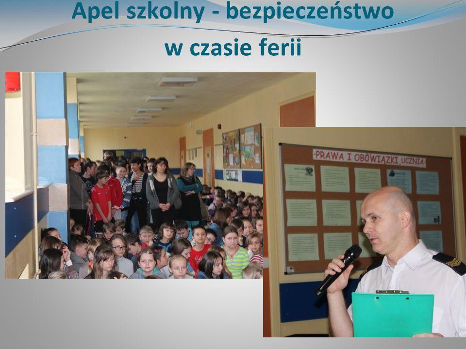 Apel szkolny - bezpieczeństwo w czasie ferii