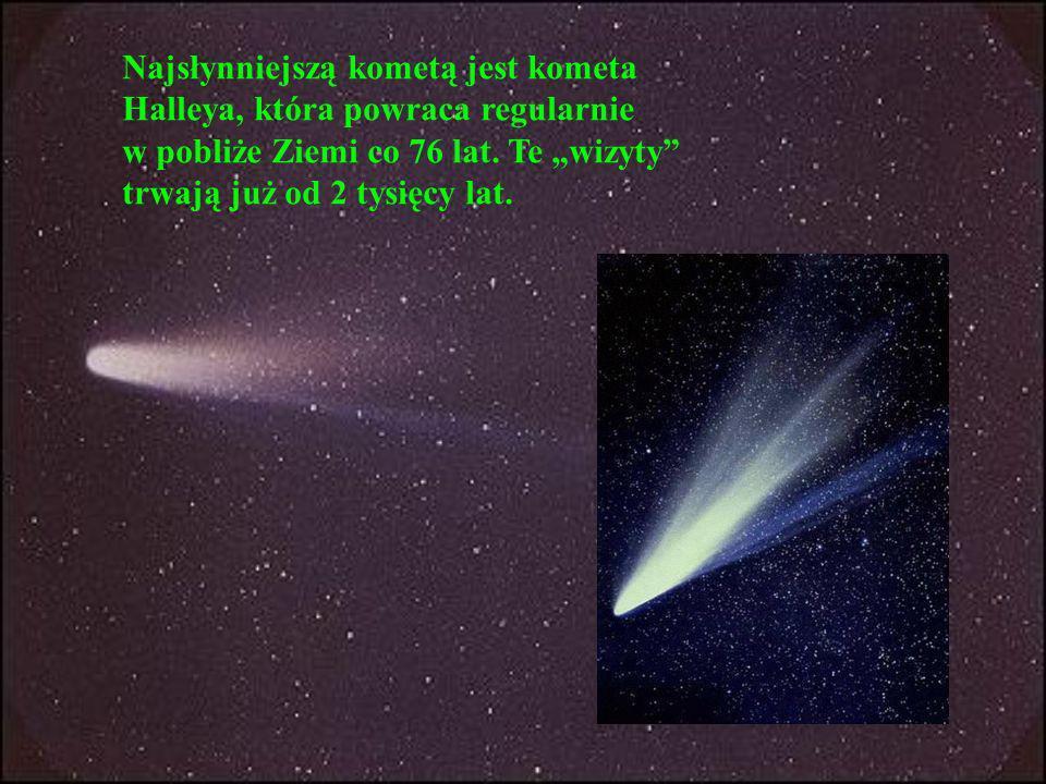 Najsłynniejszą kometą jest kometa