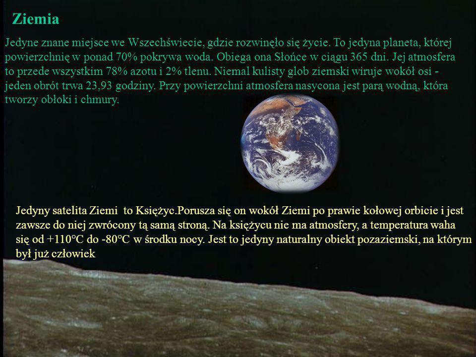 Ziemia Jedyne znane miejsce we Wszechświecie, gdzie rozwinęło się życie. To jedyna planeta, której.