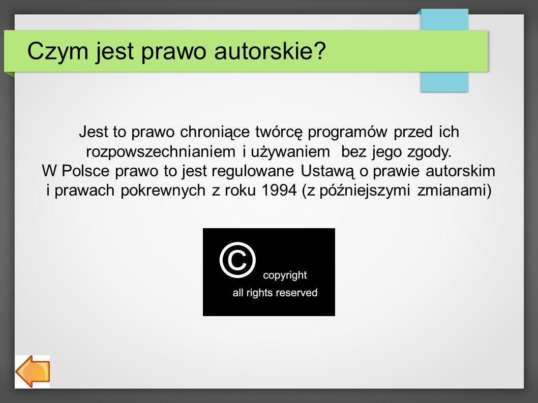 Czym jest prawo autorskie