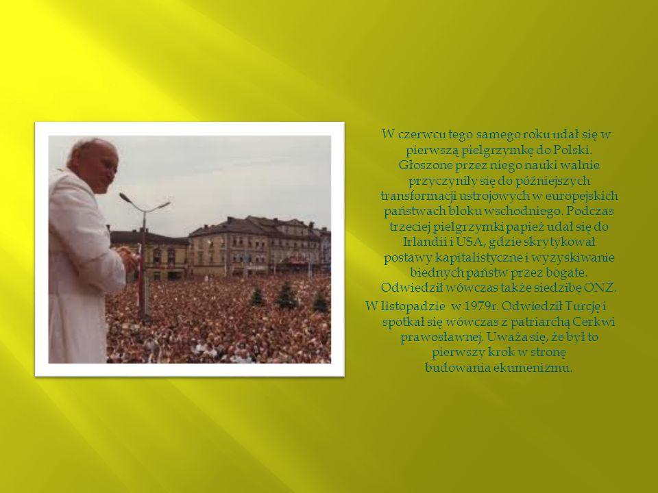W czerwcu tego samego roku udał się w pierwszą pielgrzymkę do Polski