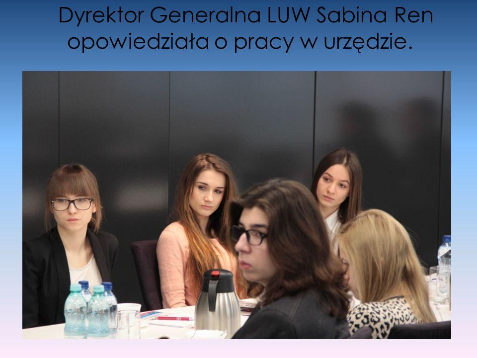 Dyrektor Generalna LUW Sabina Ren opowiedziała o pracy w urzędzie.