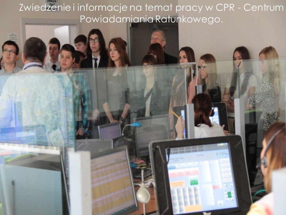 Zwiedzenie i informacje na temat pracy w CPR - Centrum Powiadamiania Ratunkowego.