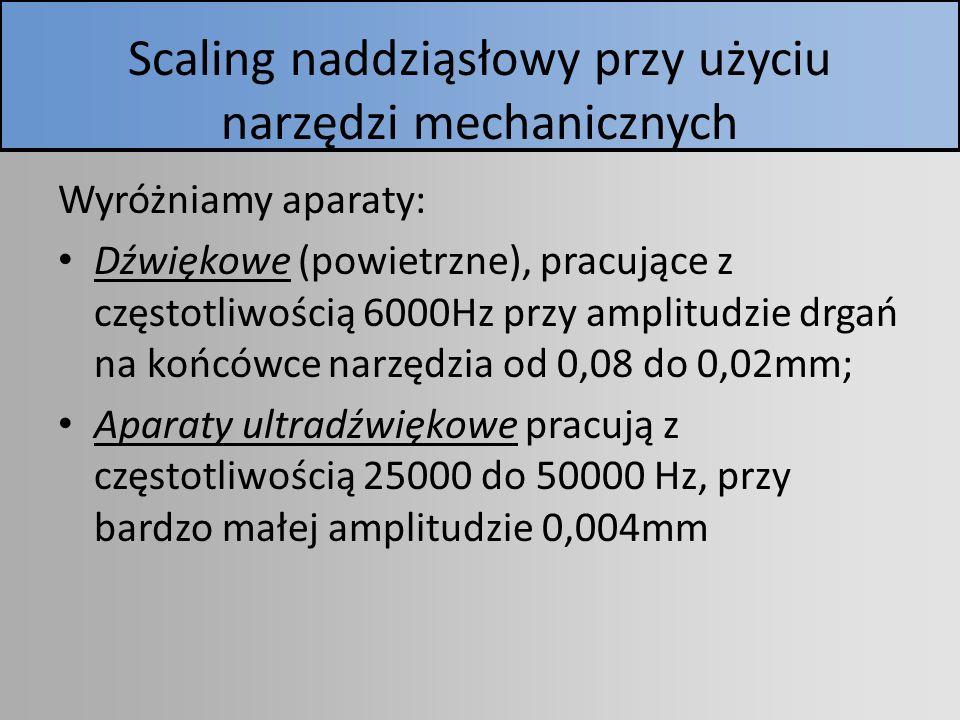 Scaling naddziąsłowy przy użyciu narzędzi mechanicznych