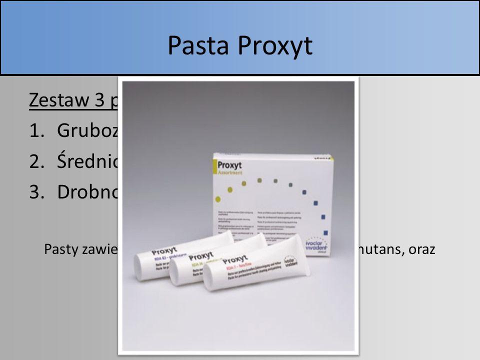 Pasta Proxyt Zestaw 3 past: Gruboziarnista (niebieska) RDA 83