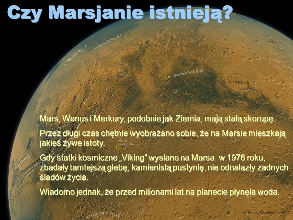 Czy Marsjanie istnieją