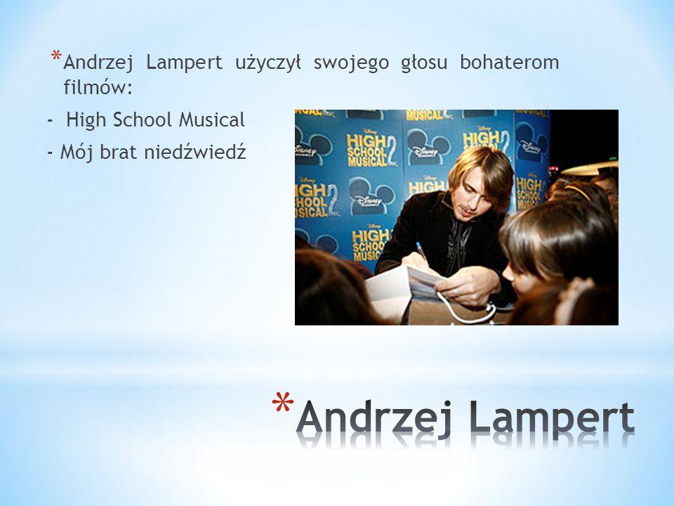 Andrzej Lampert użyczył swojego głosu bohaterom filmów: