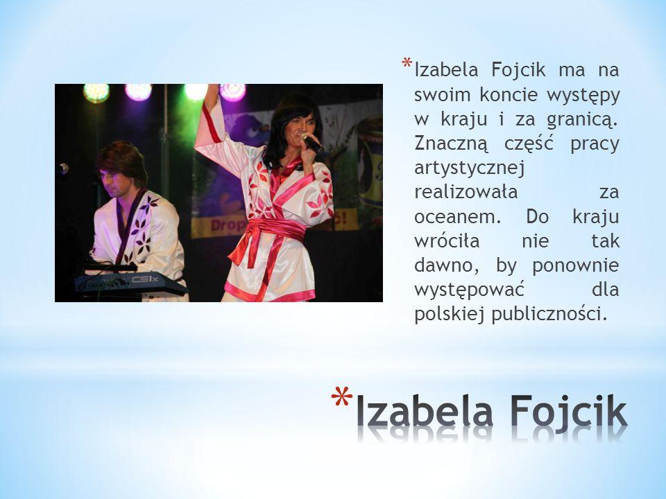 Izabela Fojcik ma na swoim koncie występy w kraju i za granicą