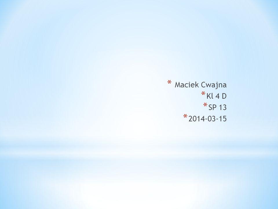 Maciek Cwajna Kl 4 D SP 13 2014-03-15