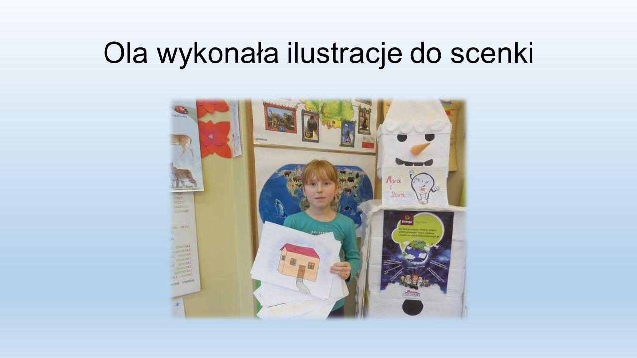 Ola wykonała ilustracje do scenki