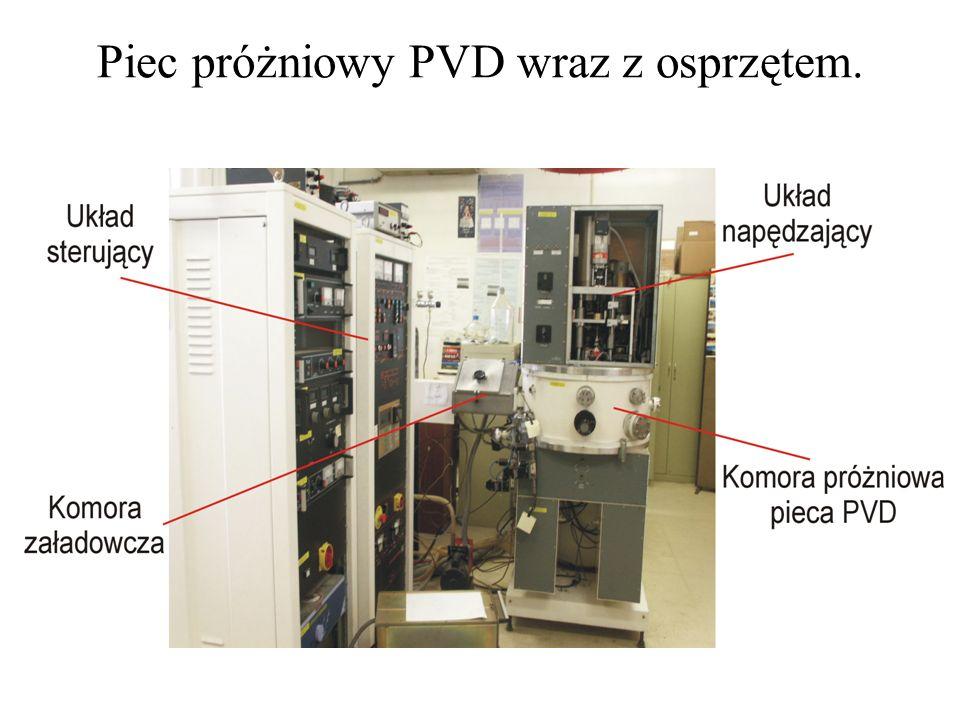 Piec próżniowy PVD wraz z osprzętem.
