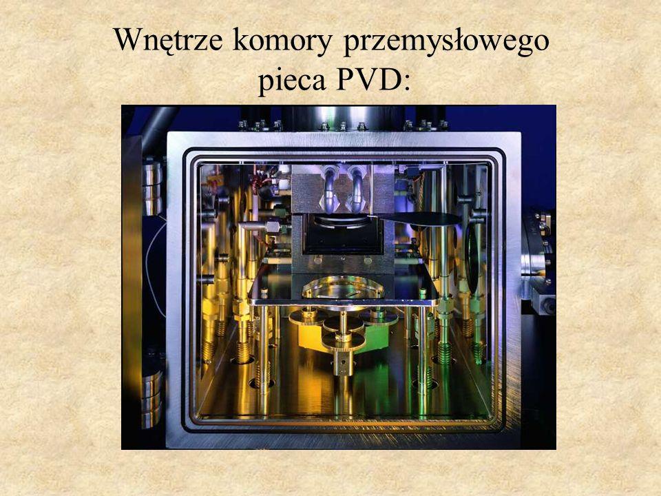 Wnętrze komory przemysłowego pieca PVD: