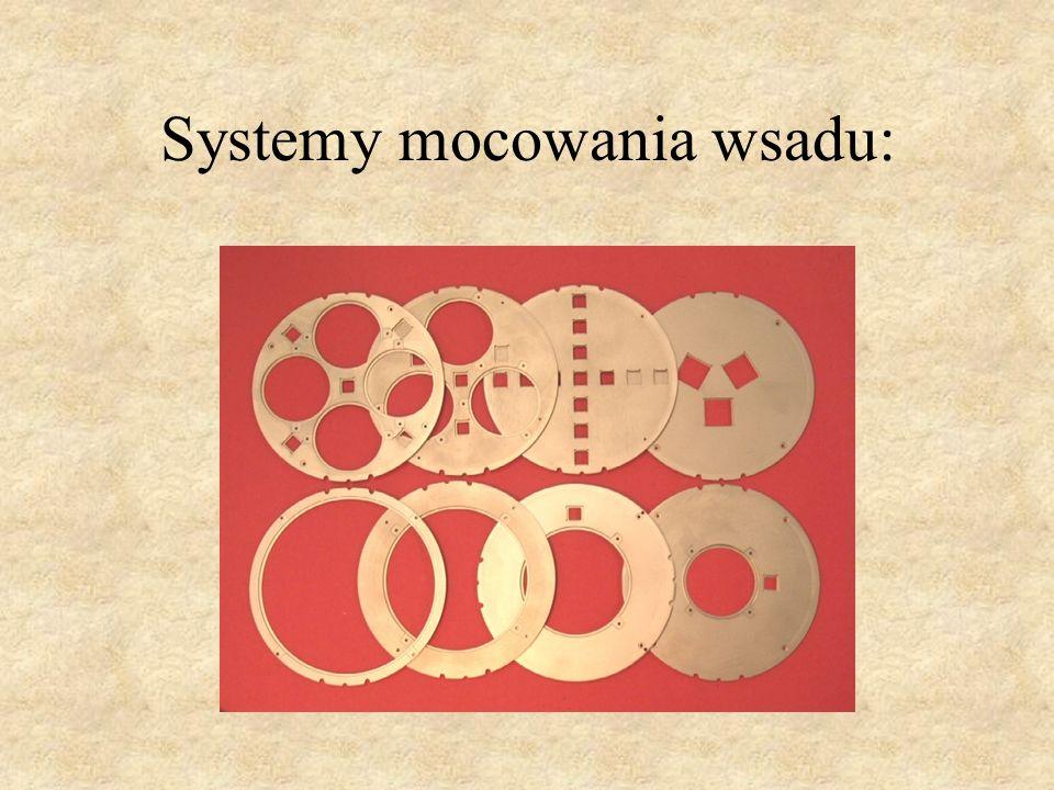 Systemy mocowania wsadu: