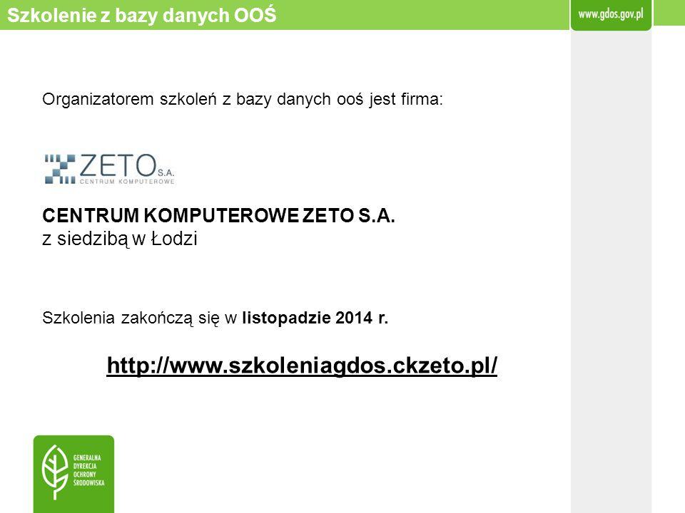 http://www.szkoleniagdos.ckzeto.pl/ Szkolenie z bazy danych OOŚ