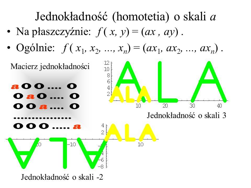 Jednokładność (homotetia) o skali a