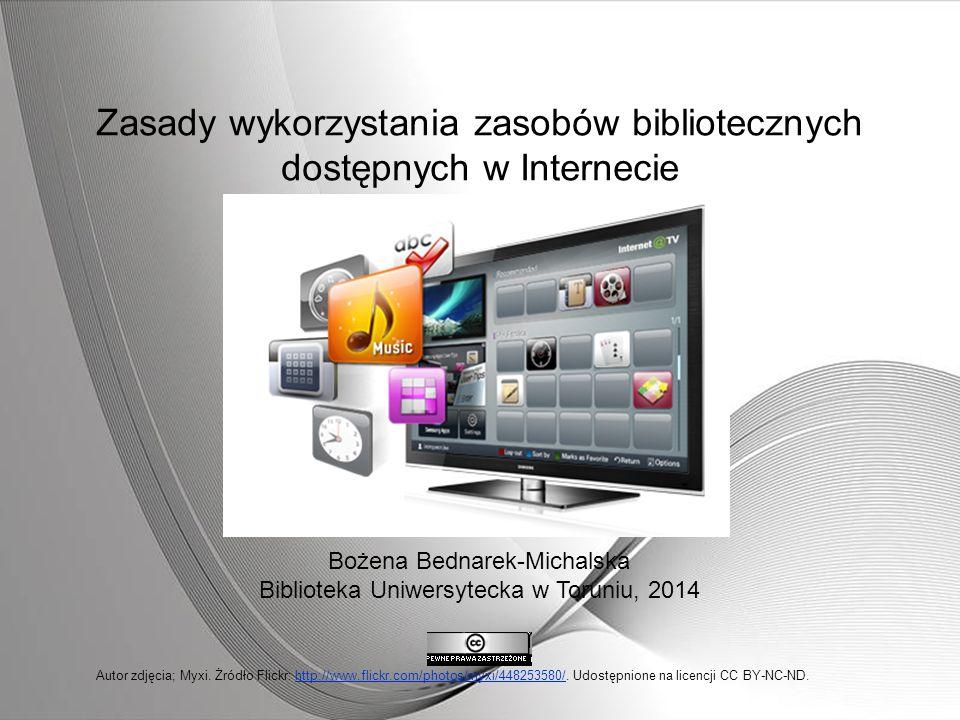 Zasady wykorzystania zasobów bibliotecznych dostępnych w Internecie