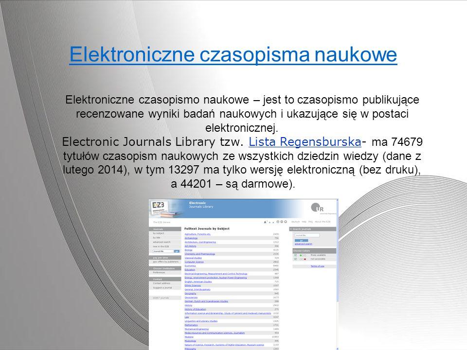 Elektroniczne czasopisma naukowe