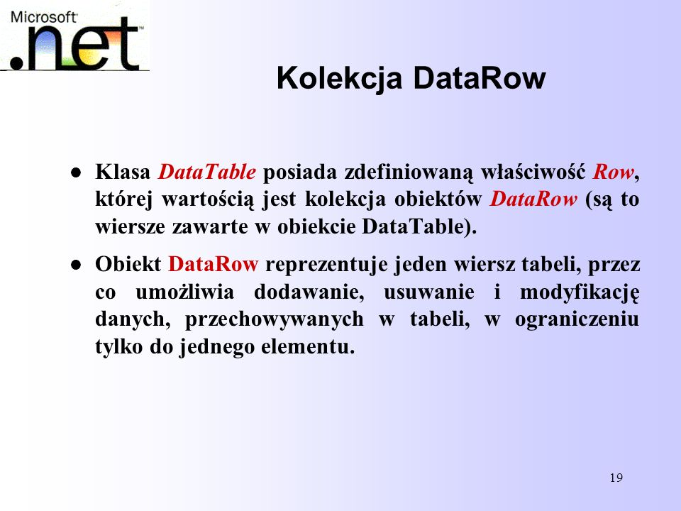 Kolekcja DataRow