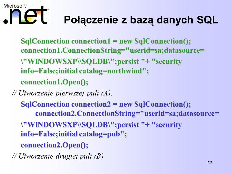 Połączenie z bazą danych SQL