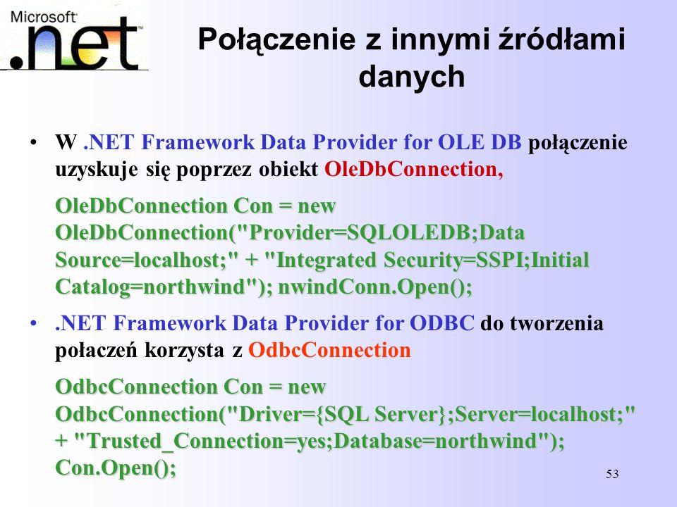 Połączenie z innymi źródłami danych