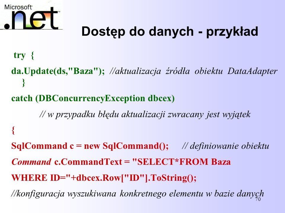 Dostęp do danych - przykład