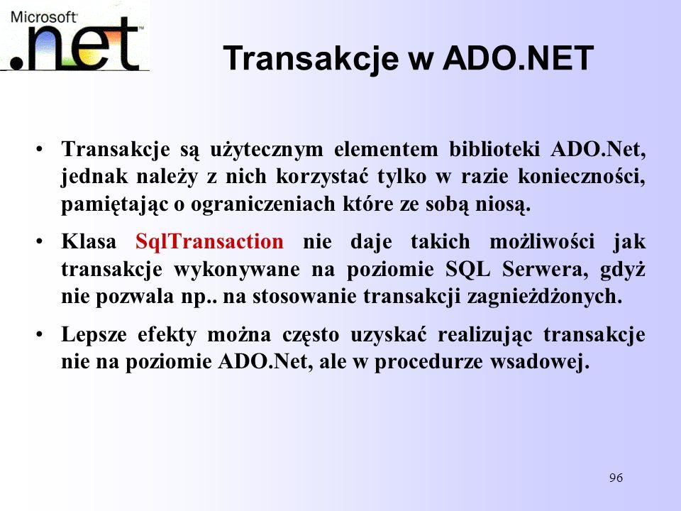 Transakcje w ADO.NET