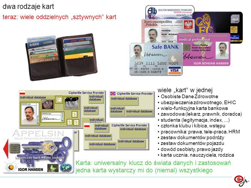 """dwa rodzaje kart teraz: wiele oddzielnych """"sztywnych kart"""