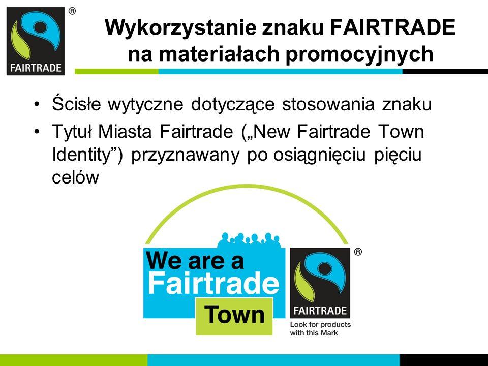 Wykorzystanie znaku FAIRTRADE na materiałach promocyjnych